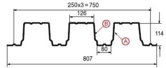 Профнастил Н-114 (рис. 3)