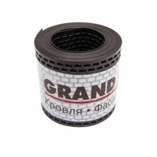 Лента вентиляционная ПВХ Grand Line черная 100х5000 мм